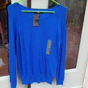 Cobalt Blue Wide Neck Sweater by Mossimo